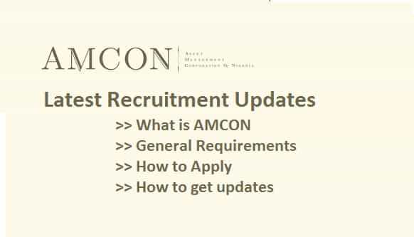 amcon recruitment updates