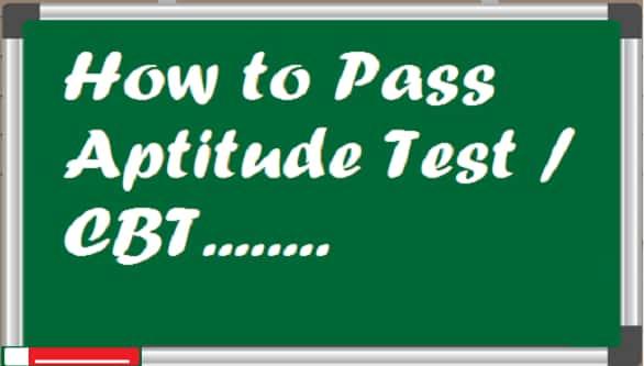 pass aptitude test