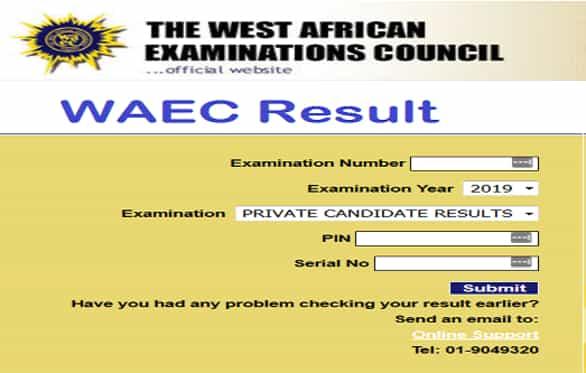 waec 2019 result