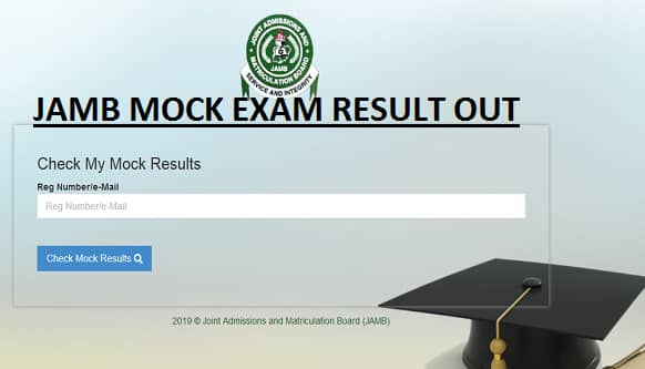 jamb mock exam result