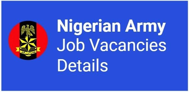 nigerian army recruitment details