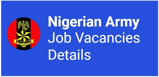 nigerian army recruitment details