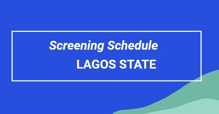 screening for lagos state