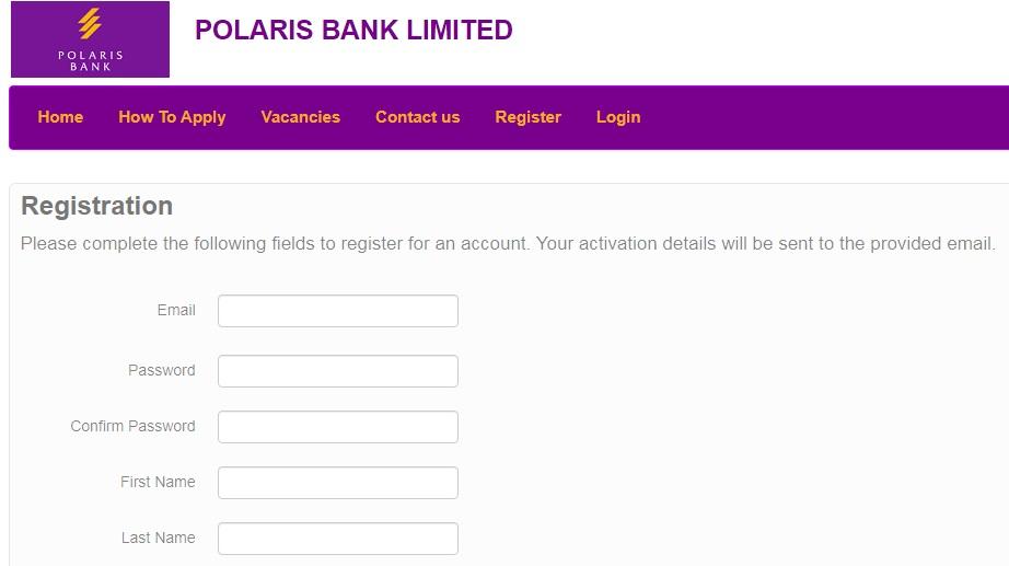 Polaris bank registration portal