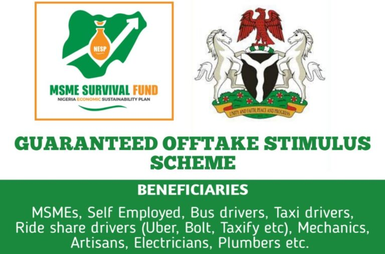 Survival Fund Guaranteed Offtake Stimulus Scheme Application Form Portal 2021 » Voice of Nigeria