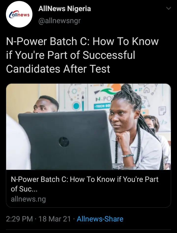 npower batch news