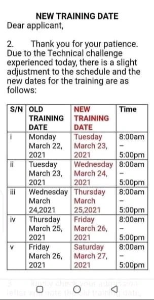 nyif new training date
