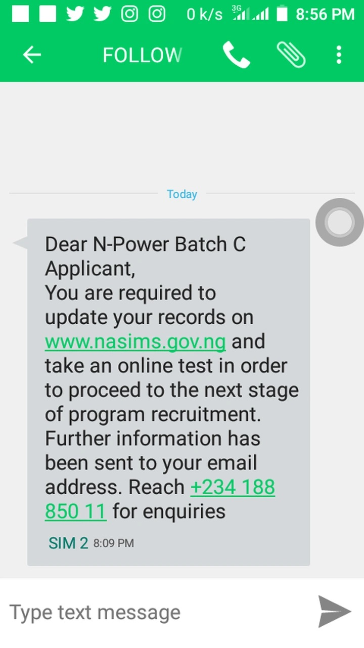 npower nasims message