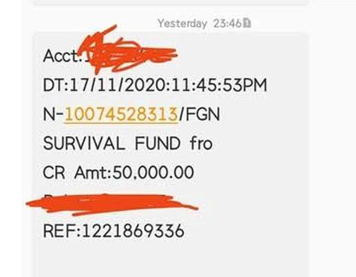 survival fund msg 1