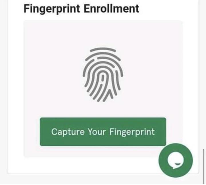 fingerprint enrolment