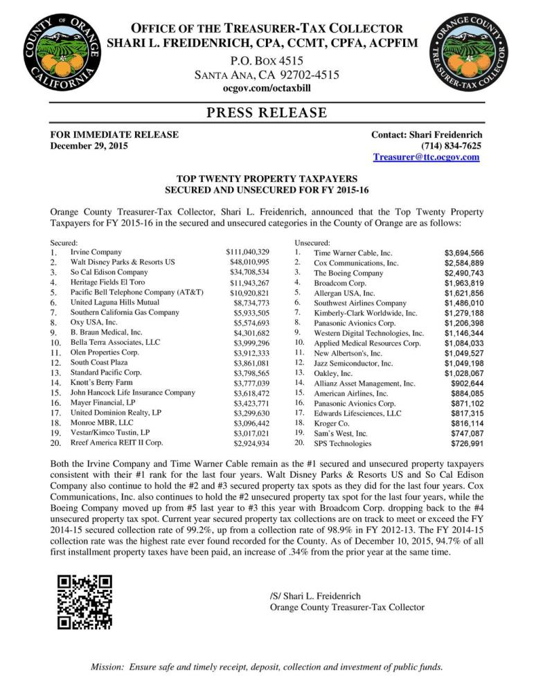 PR122915 Top Twenty Taxpayers FY 2015-16-page-001