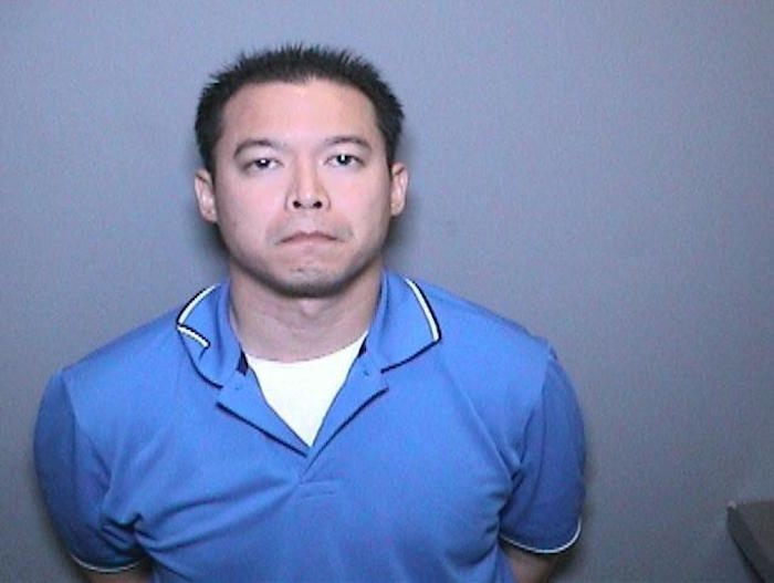 The booking photo of Michael Nguyen, who is accused of embezzling $4.3 million from the city of Placentia.