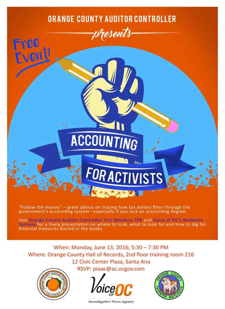 Accounting for Activists flyer