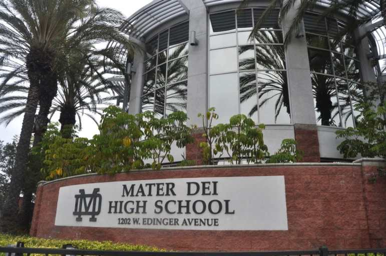 Mater Dei High School in Santa Ana.
