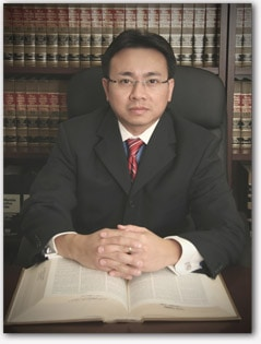 A portrait of David Phuong Dinh Vo on the website for his law practice.