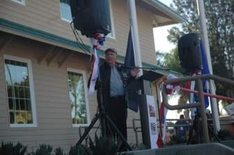 OC Fair Board Member Nick Berardino at the opening of Heroes Hall.