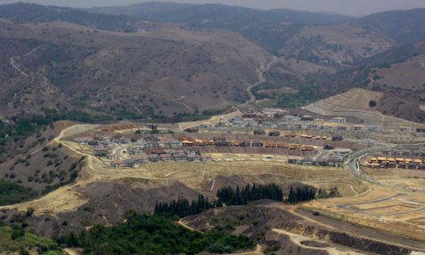 A Yorba Linda development built adjacent to Chino Hills State Park.