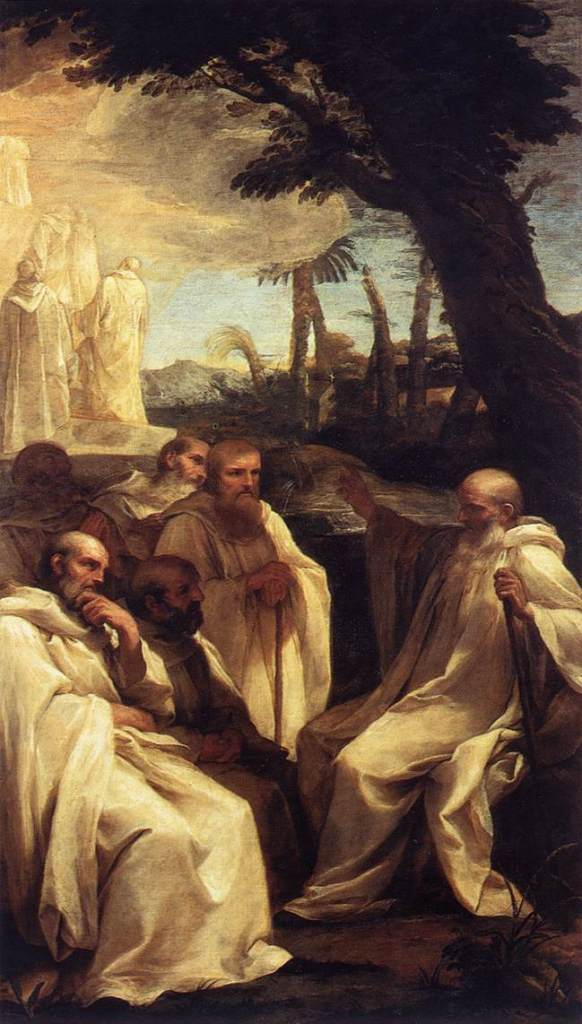 """""""The Vision of St. Romuald"""" by Andrea Sacchi"""