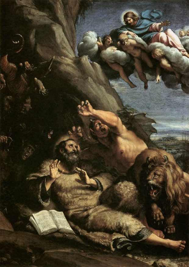 """The Temptation of St. Anthony Abbot"" by Annibale Carracci."