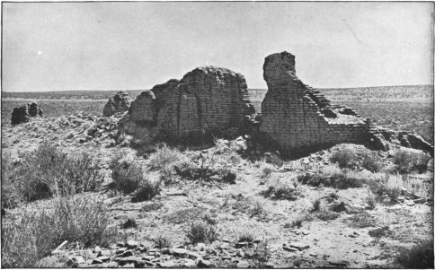 The ruined church at the site of the ancient village of Hawikuh.
