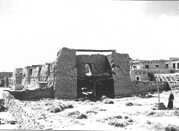 Ruins of the old mission.