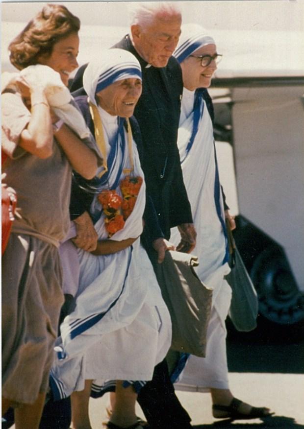 Bishop Hastrich with Mother Teresa.