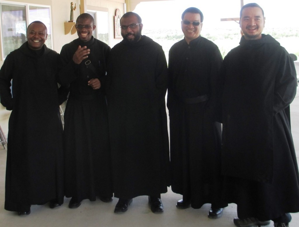 Monks from Abiquiu visit Our Lady of the Desert Monastery during the 25th anniversary.