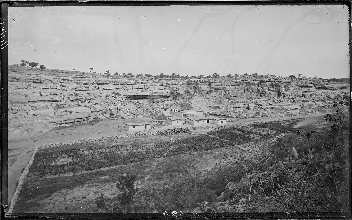 The Keams Canyon Trading Post, circa 1880.