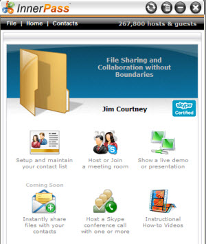 InnerPass Share and Collaborate Home Page