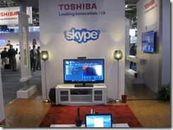 Toshiba Skype for TV Exhibit