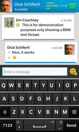 BlackBerry: BBM for iOS and Android Launches