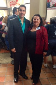 Jesus Salas with Lillian Vila of Children Youth Life Foundation