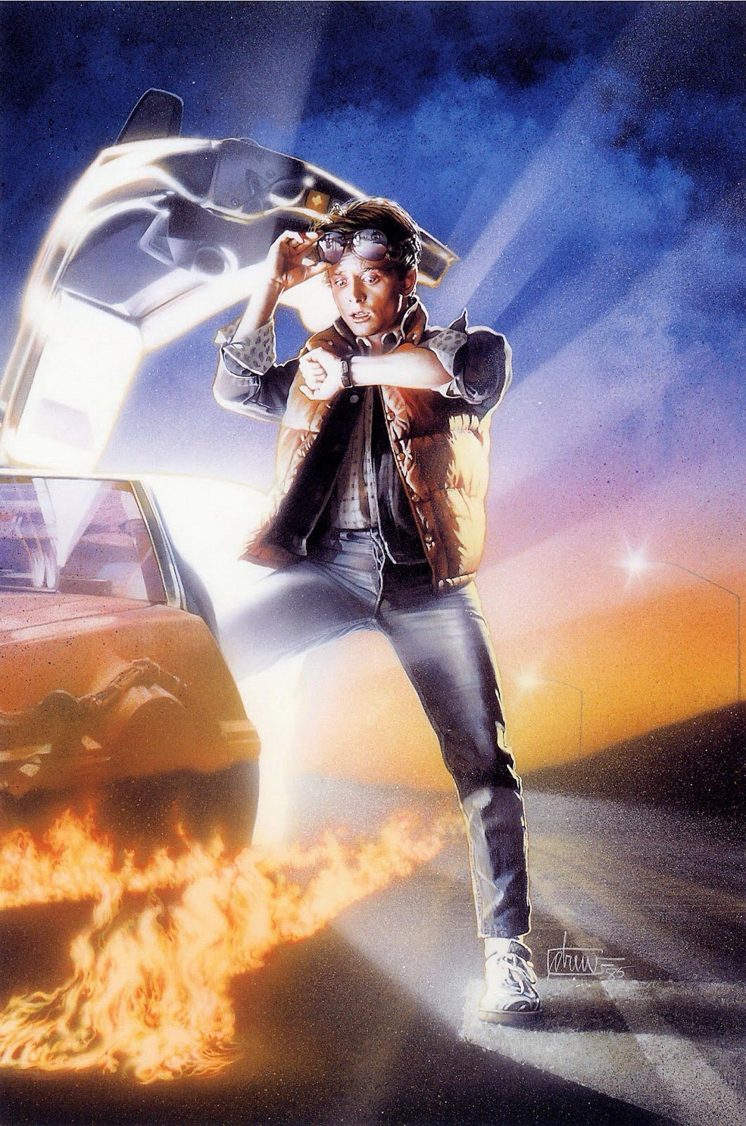 Back To The Future Drew Painting