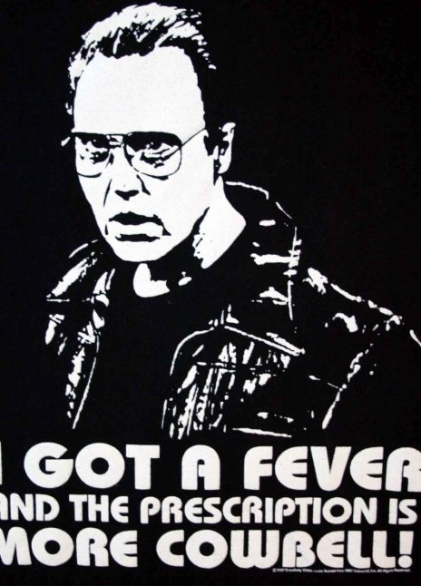 "Christopher Walken Will Farrell ""…More Cowbell."""