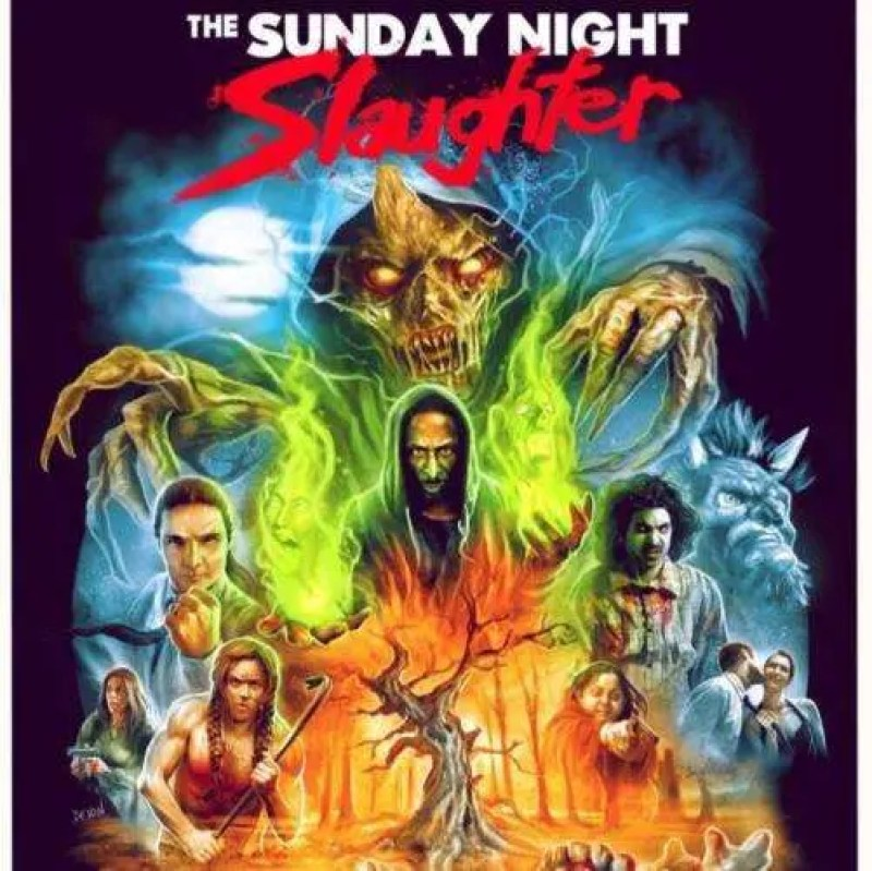 THE SUNDAY NIGHT SLAUGHTER, Horror, Horror Movie, Movies, Films, Horror Films, Movie Poster, Maria Olsen, Actress, Interview, Voices From The Balcony, Women In Horror Month, WiHM9, WiHM, Horror Images