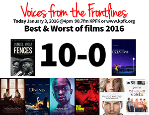 Voices Radio: The Best and Worst of Films 2016