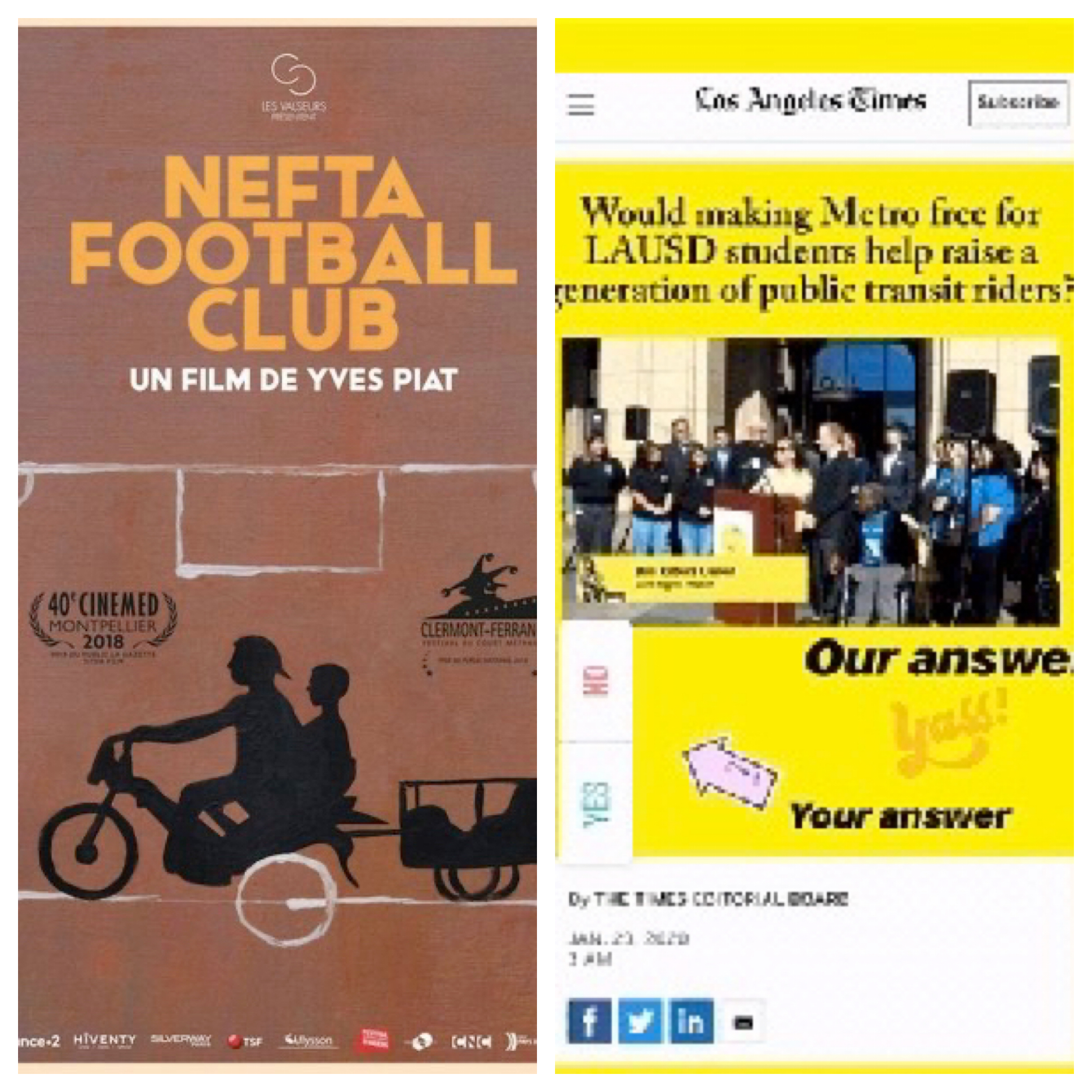 Voices Radio: Eric, in conversation with Yves Piat, Director and Screenwriter of Academy Award nominee, NEFTA Football Club. Bus Riders Union call for action.