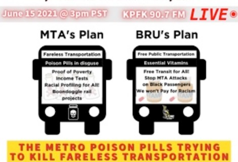 This week on Voices Radio: Barbara, Channing, and Eric update us on the MTA's Poison Pill Initiative .