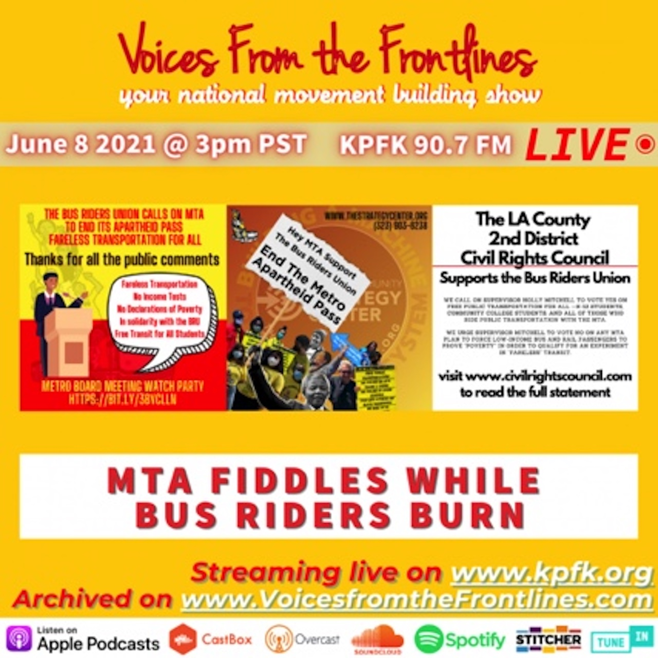 This week on Voices From the Frontlines with Eric Mann and Channing Martinez.