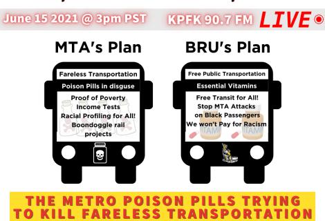 Voices Radio: June 15 2021 The Metro Poison pills trying to kill fareless transportation