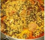 Preparing Egusi Soup