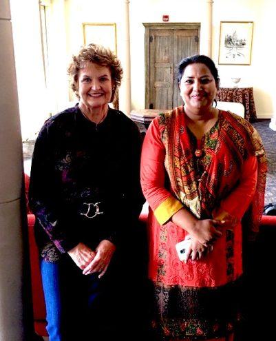 Dr. Rubina Bhatti and Jenni Prisk