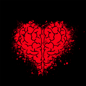 Heart and brain thinking and feeling together