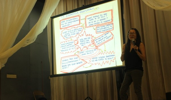 Mia Mingus discusses transformative justice strategies Tuesday.