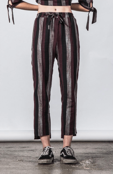 Thing Thing Gone Pant Maroon Stripe