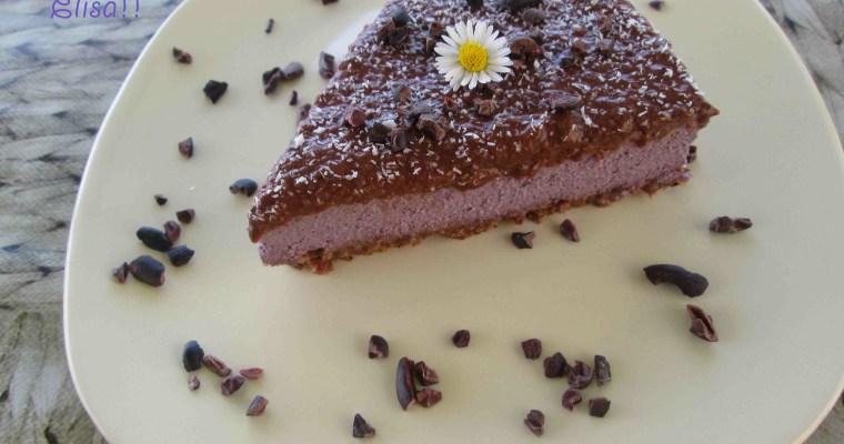 Cheesecake vegana de pera y maíz morado