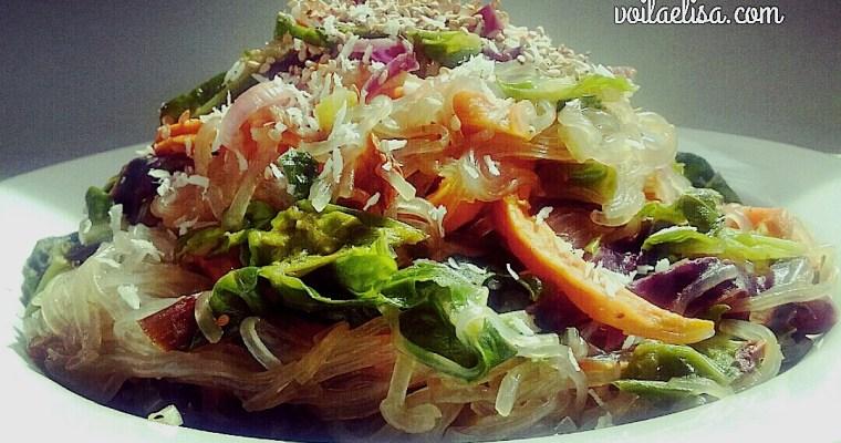 Fideos chinos Vermicelli con verduras