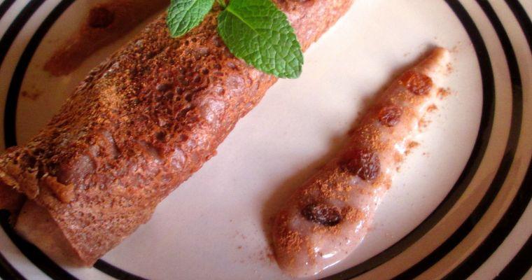Crepes bretonas veganas con nata y chocolate