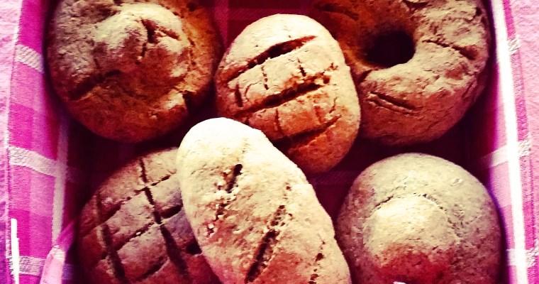 Panecillos de trigo sarraceno y sésamo
