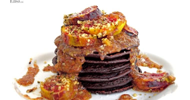 Tortitas veganas con mermelada de higos